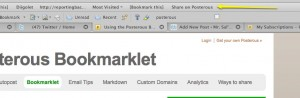 Posterous Bookmarklet in toolbar